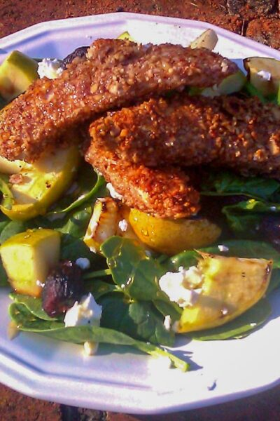 Almond Crusted Chicken Salad