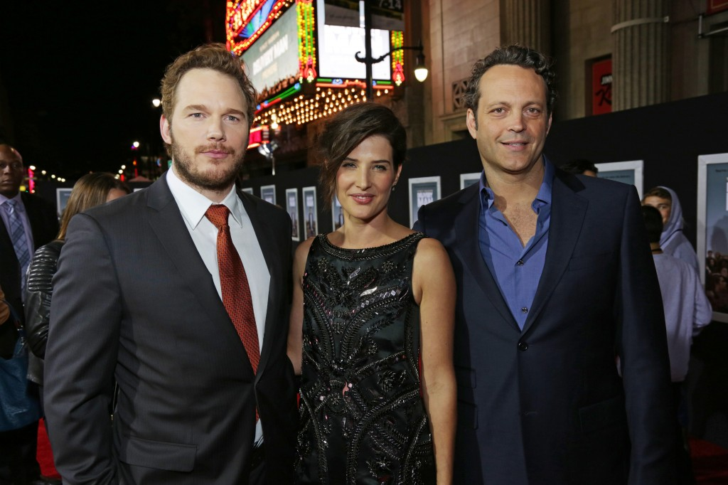 Chris Pratt, Cobie Sulders, and Vince Vaughn Photo Credit: Dreamworks