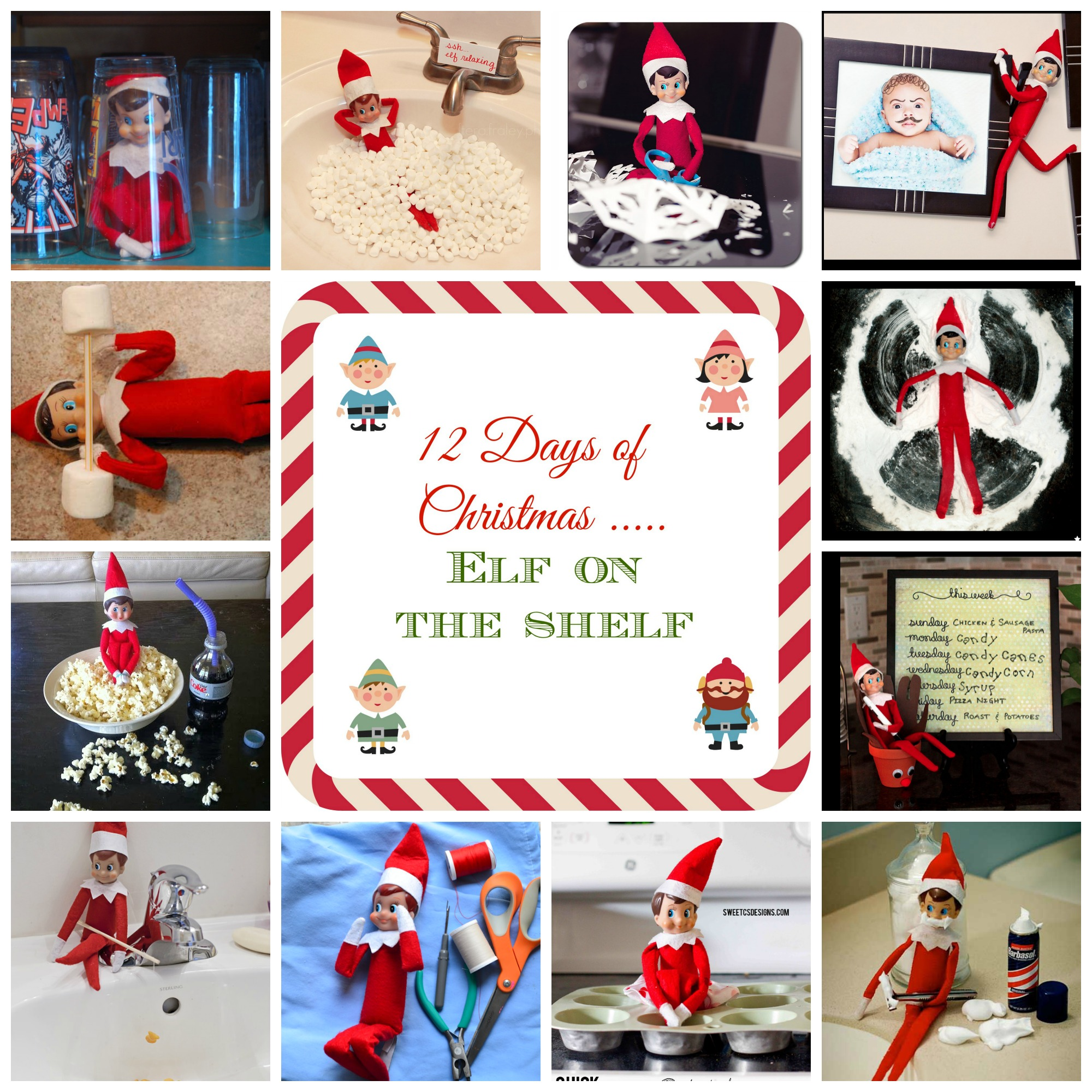 12 Days of Christmas - Elf on the Shelf Ideas