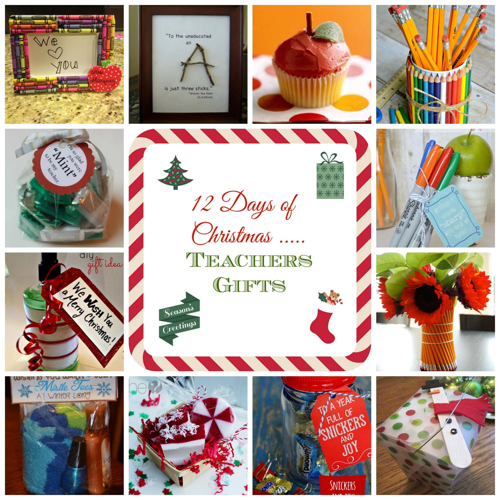 12 Days of Christmas - Teacher Gift Ideas - donnahup.com