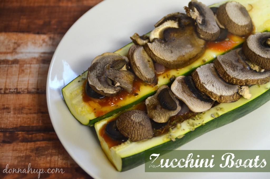Zucchini Boats #Recipe #vegan #paleo #glutenfree #vegetarian #dairyfree donnahup