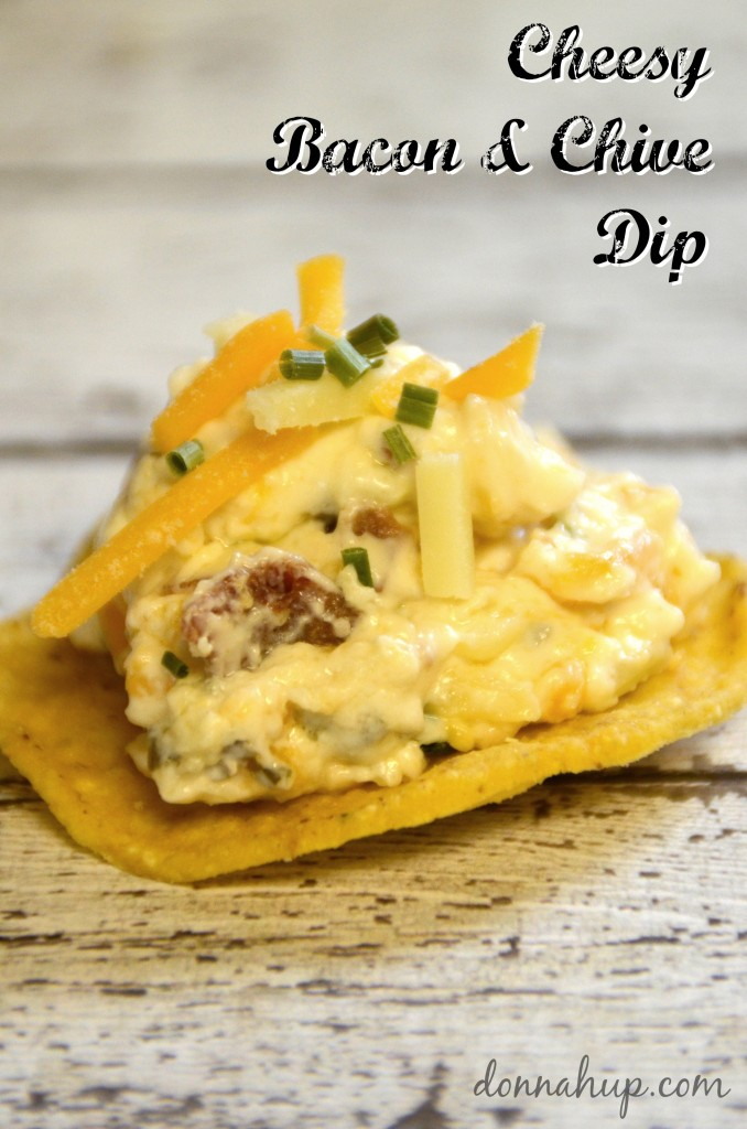 Cheesy Bacon & Chive Dip #Recipe - Simple and Inexpensive with help from Kraft Coupons #PackedWithSavings #shop donnahup