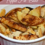 healthy fall apple pie bake