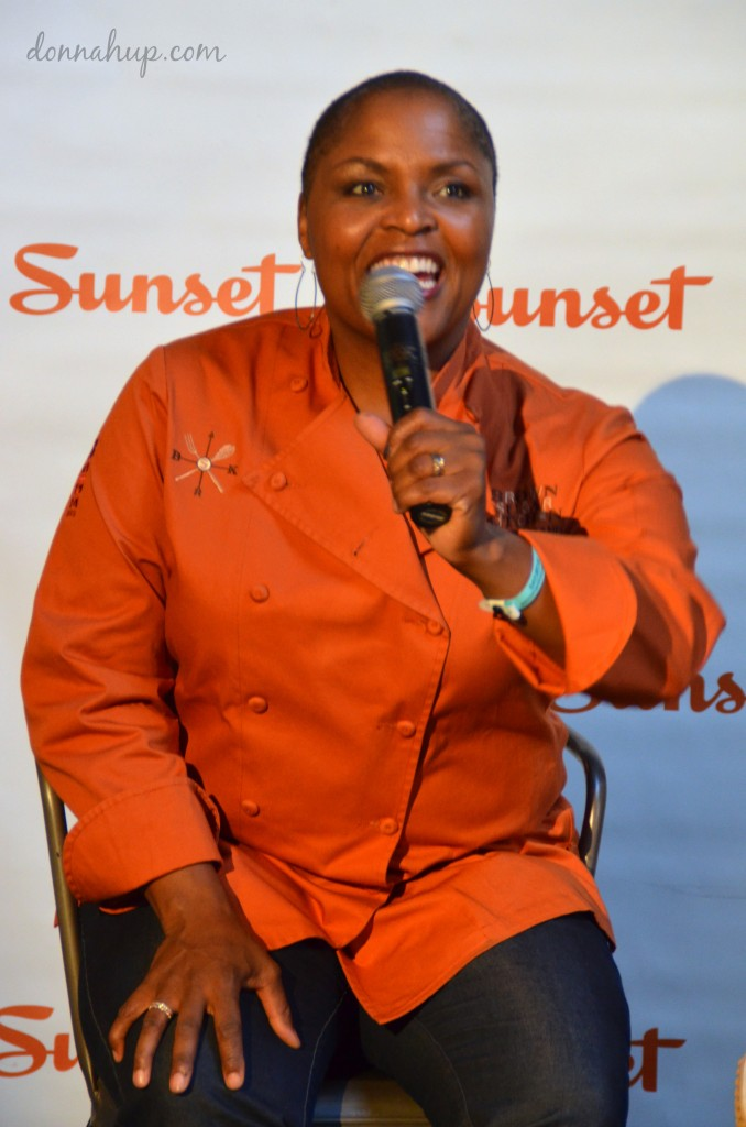 Meeting Tanya Holland at Sunset Savor Food & Wine Festival Buttermilk Fried Chicken Recipe #recipe #SunsetSavor #Savor #food #travel donnahup