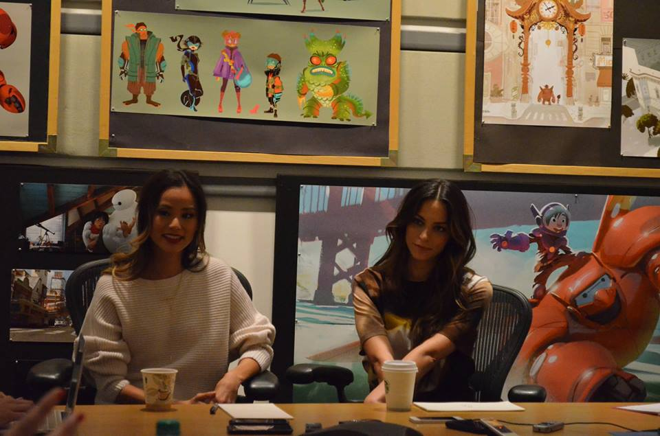 Meet GoGo and Honey Lemon from #BigHero6Event  Interview with Jamie Chung and Genesis Rodriguez #BigHero6 #movie #meetbaymax #balalalala