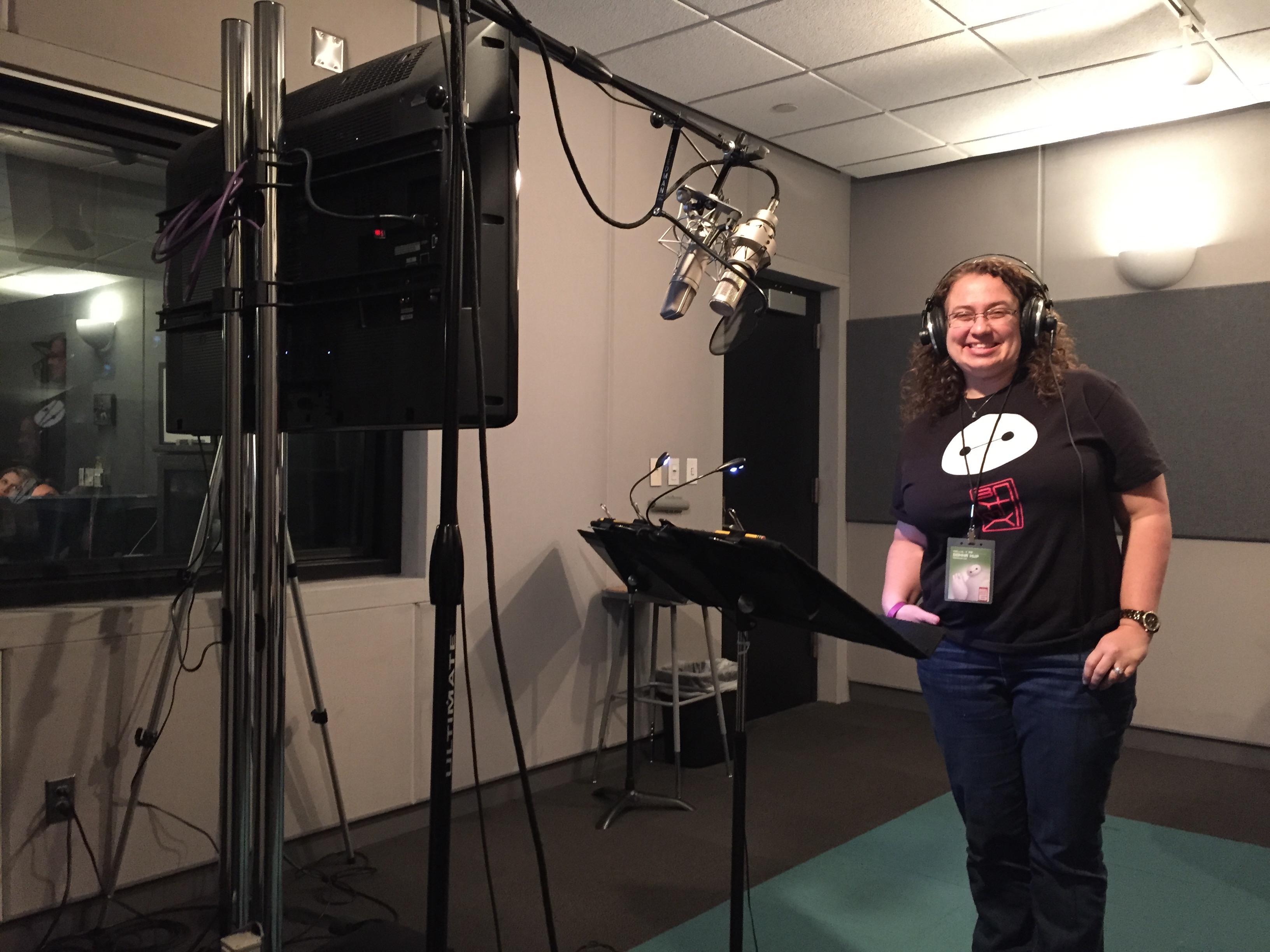 Voicing Baymax from BIG HERO 6 at Disney Animation Studios #BigHero6Event