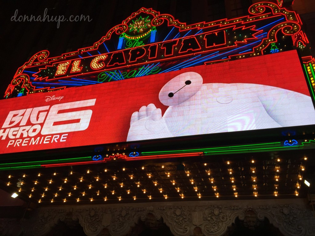 Walking the Red Carpet for the Big Hero 6 Premiere