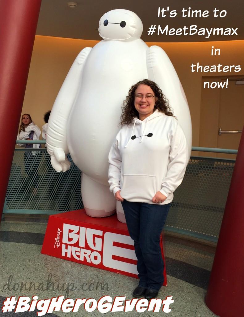 Meet Baymax - BigHero 6 is in Theaters Today - #BigHero6Event #BigHero6 #MeetBaymax #movies #film #review #superhero #disney #abctvevent donnahup