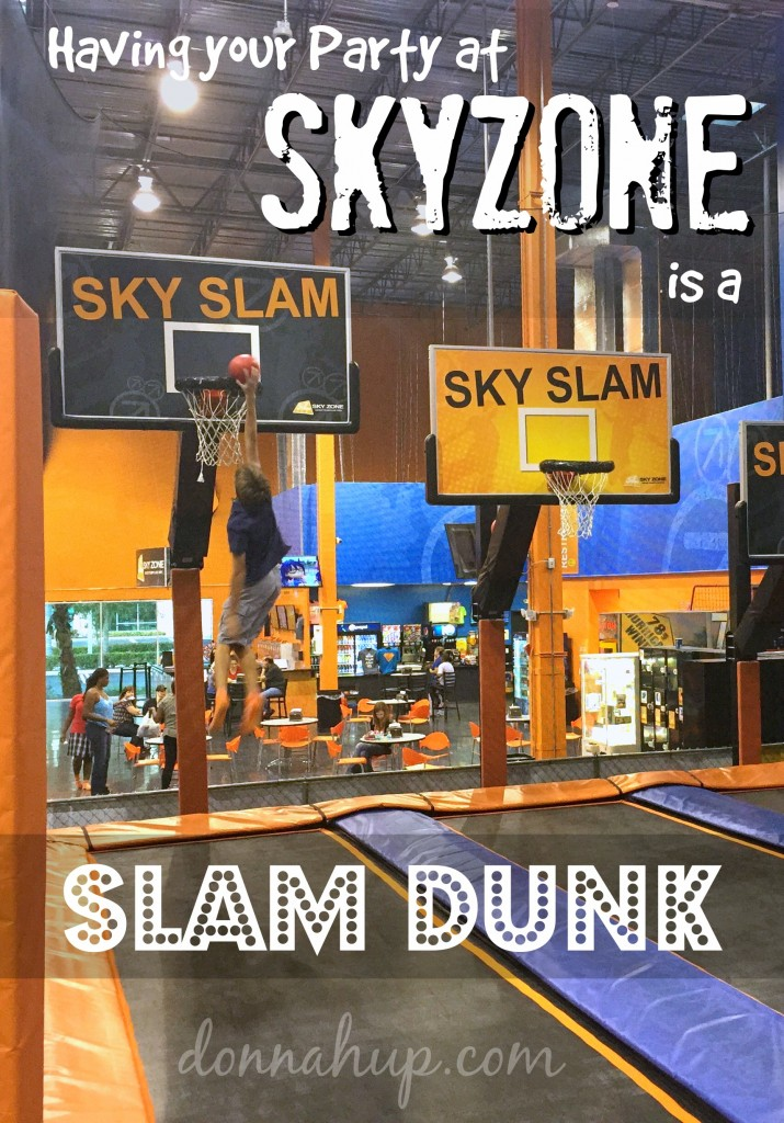 SkyZone Button Having your Party at SkyZone is a Slam Dunk #review