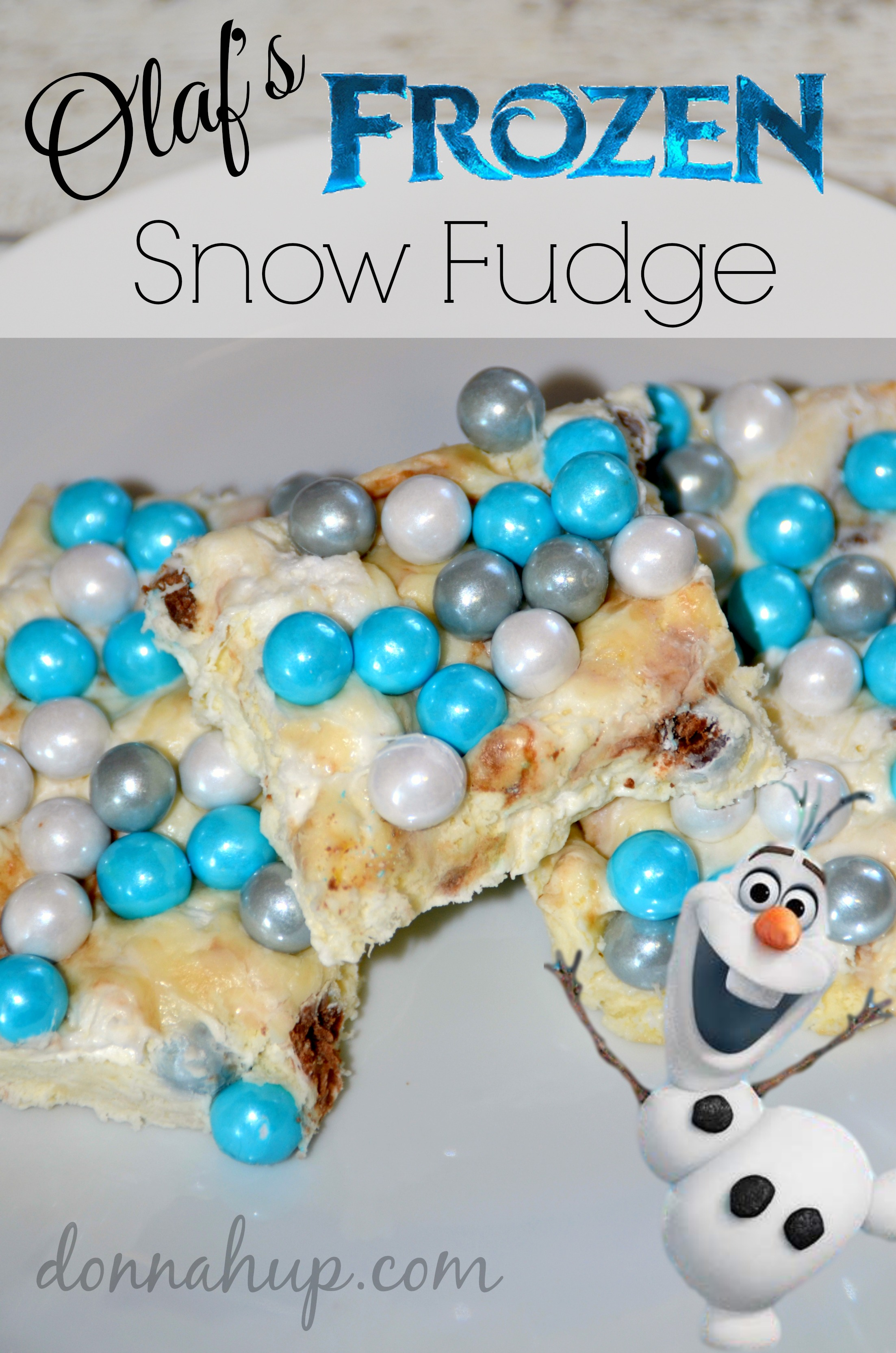 Olaf's Frozen Snow Fudge