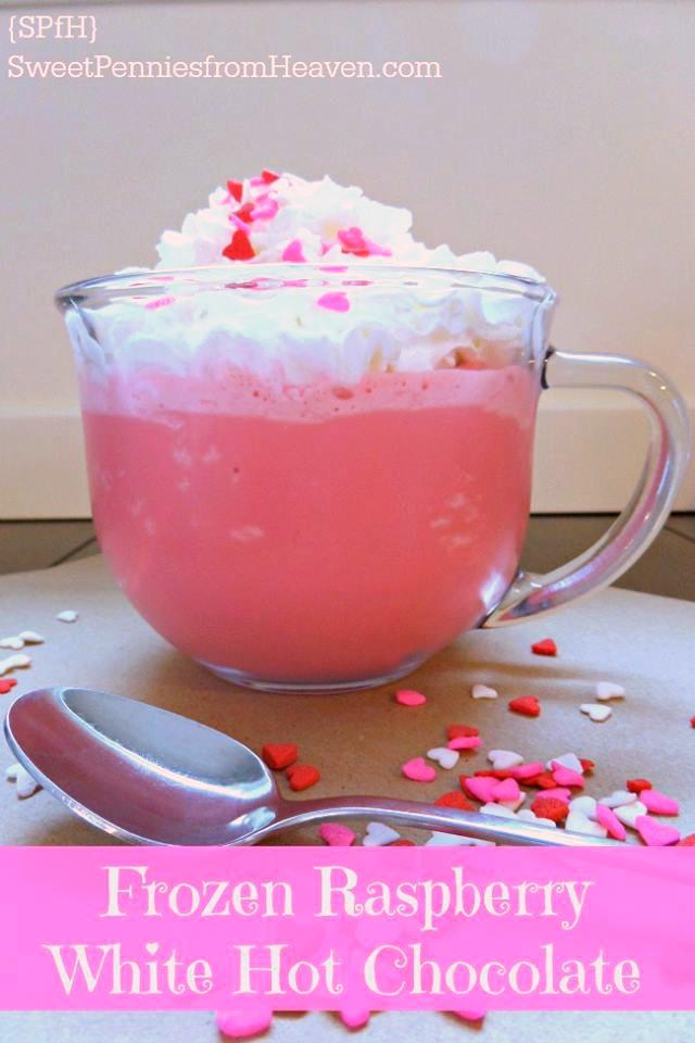 Frozen Raspberry White Hot Chocolate