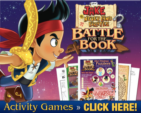 Activity Sheets for Jake and the Neverland Pirates: Battle for the Book