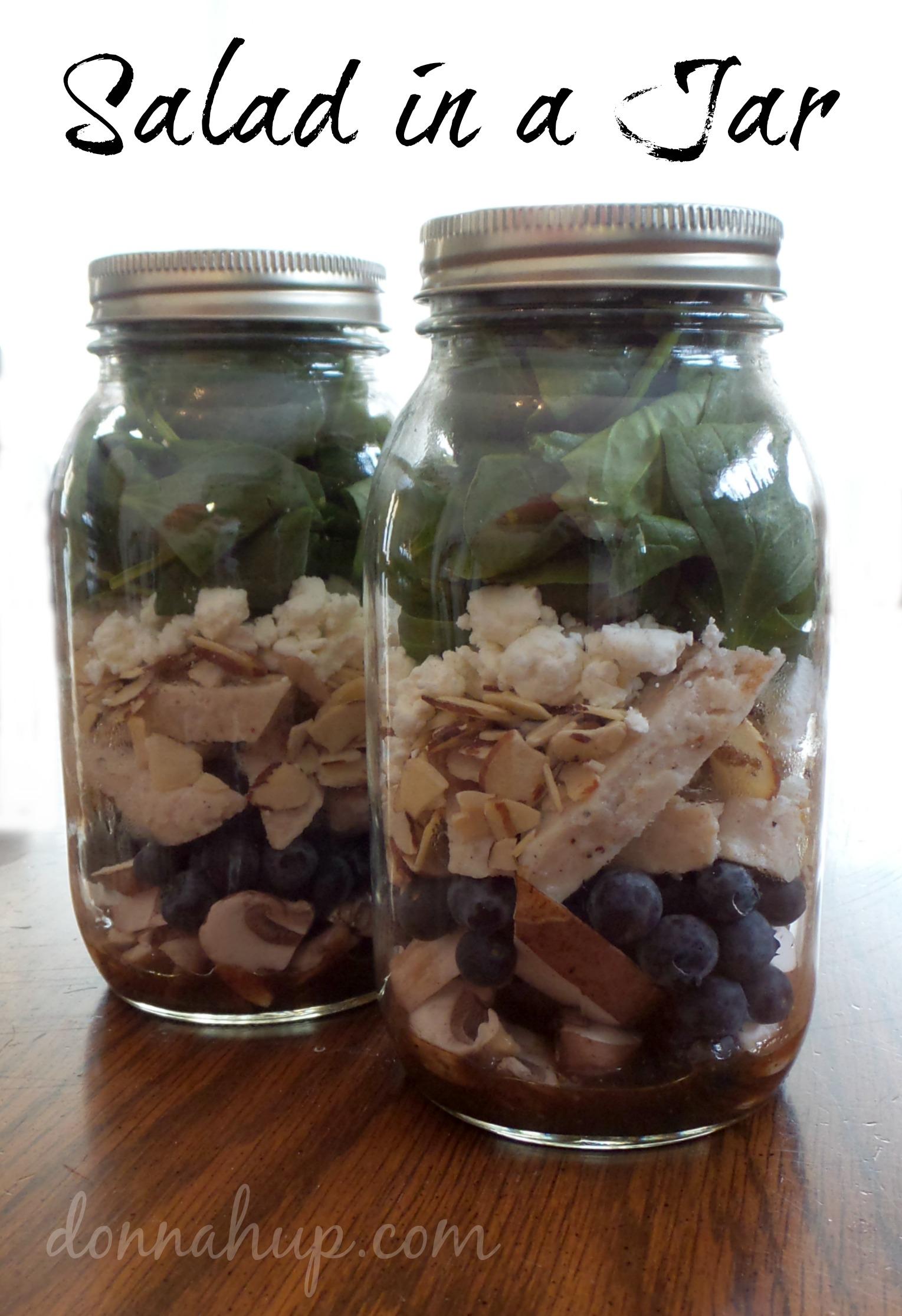 Easy Salad in a Jar