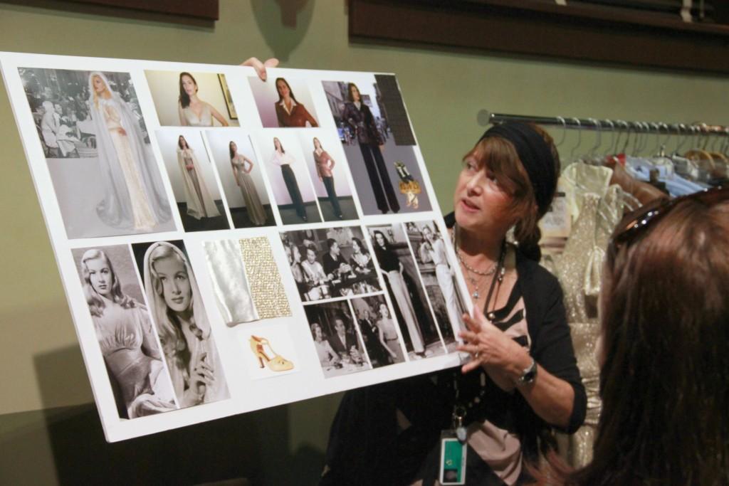 Gigi Melton holds idea board Meeting Agent Carter and Spending Time on Set #AgentCarter #ABCTVEvent
