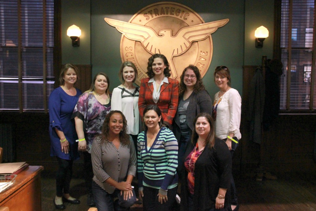 Hayley group photo_Team Steve Rogers Meeting Agent Carter and Spending Time on Set #AgentCarter #ABCTVEvent