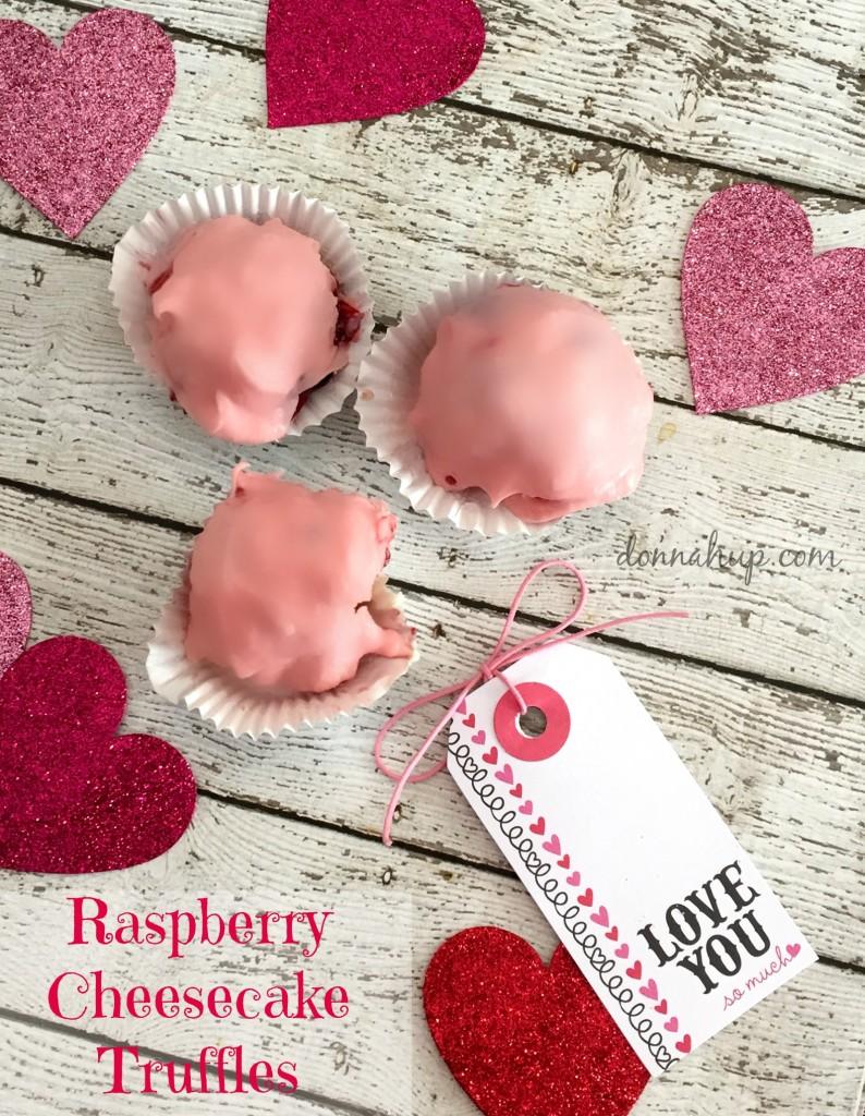 Raspberry Cheesecake Truffles