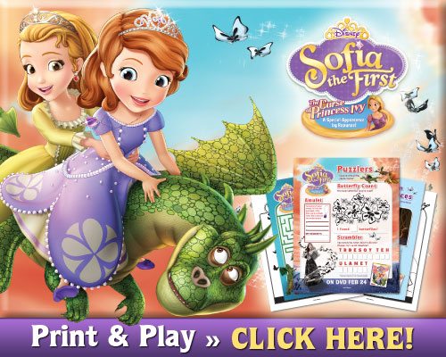 Activity Sheets Sofia the First: The Curse of Princess Ivy