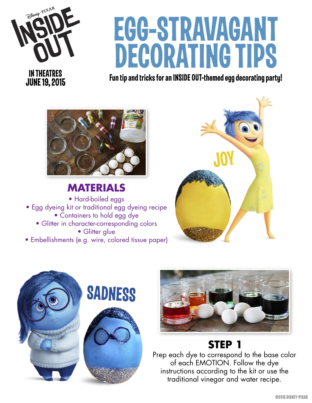 INSIDE OUT – Family Activity Sheets