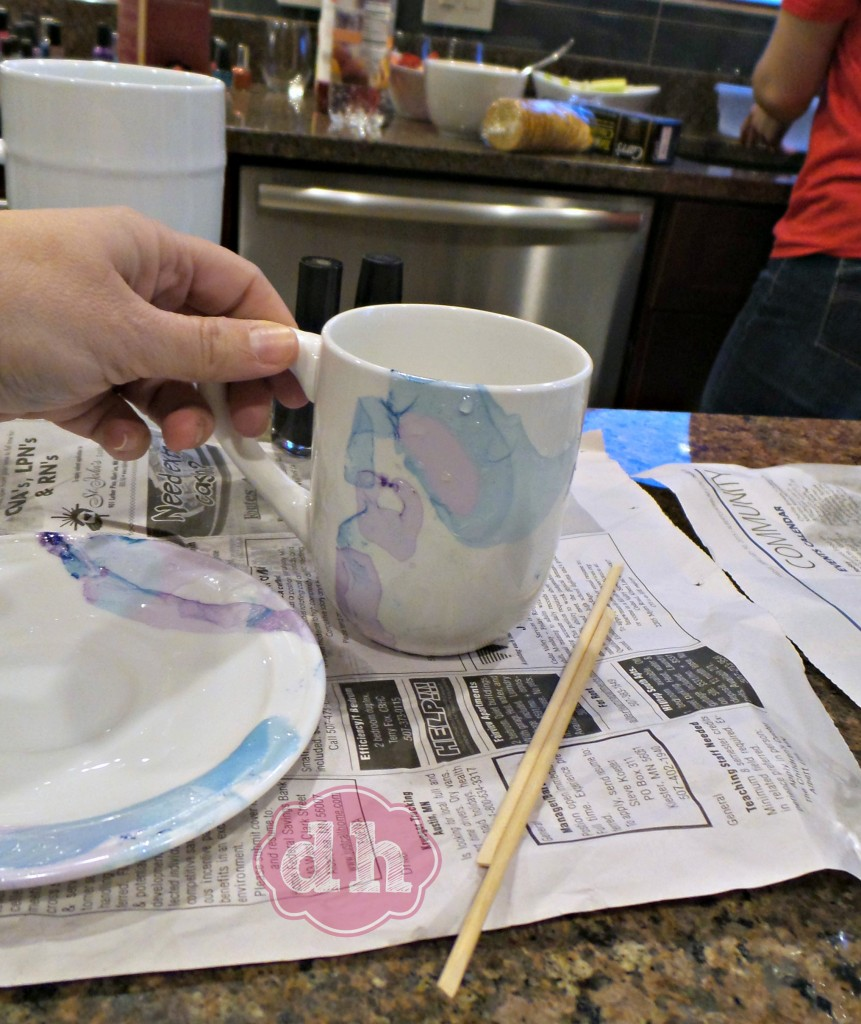 A Pinterest Party and DIY Marbleized Mugs