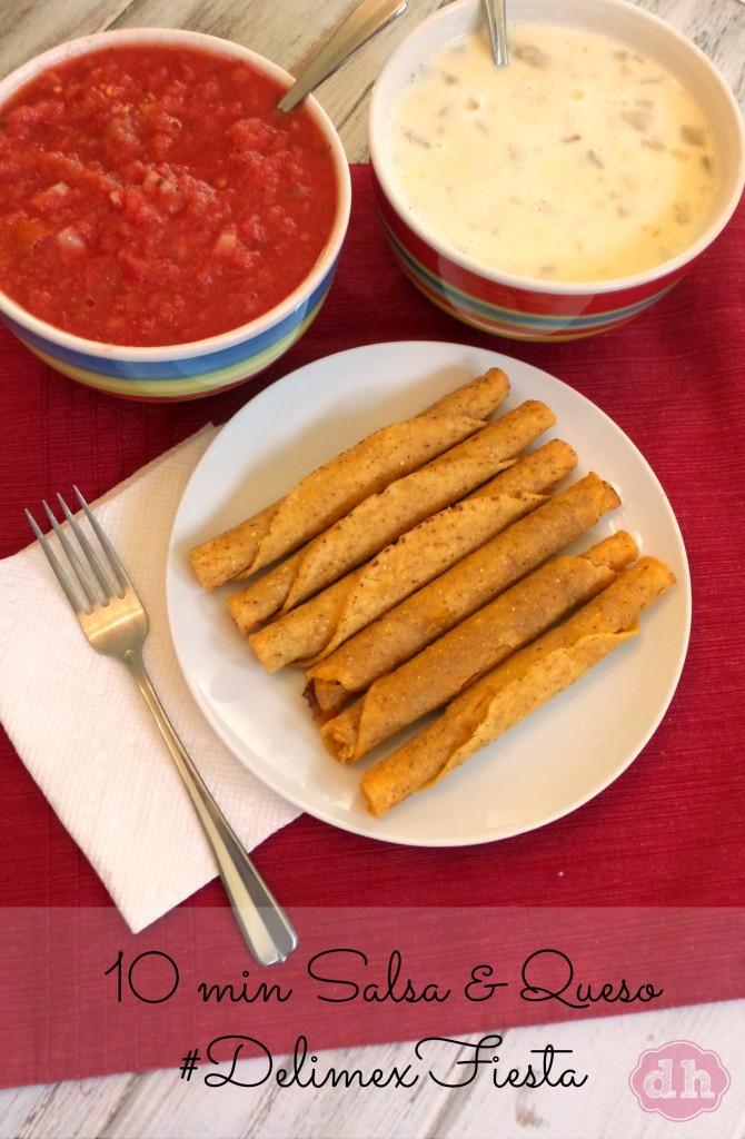 10 Minute Salsa and Queso for Cinco de Mayo #DelimexFresh #ad Walmart #recipe