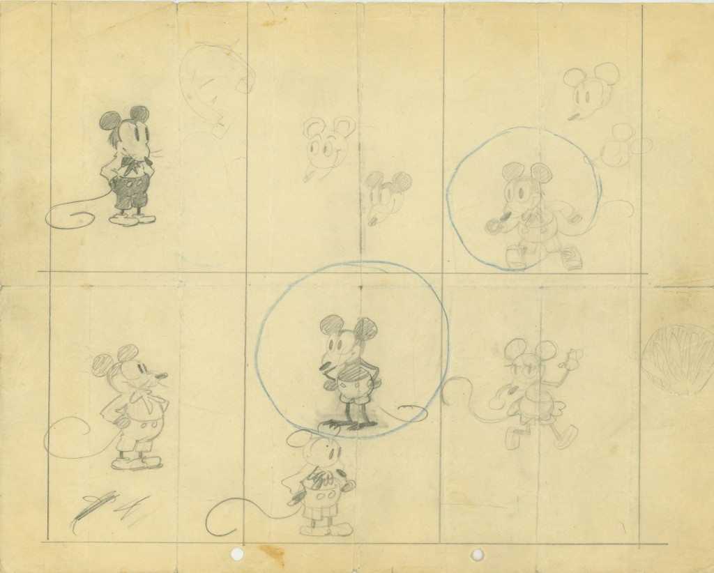 Earliest known drawings of Mickey Mouse Walt Disney Family Museum Yesterday, Today, and even Tomorrowland #Waltagram #InsideOutEvent