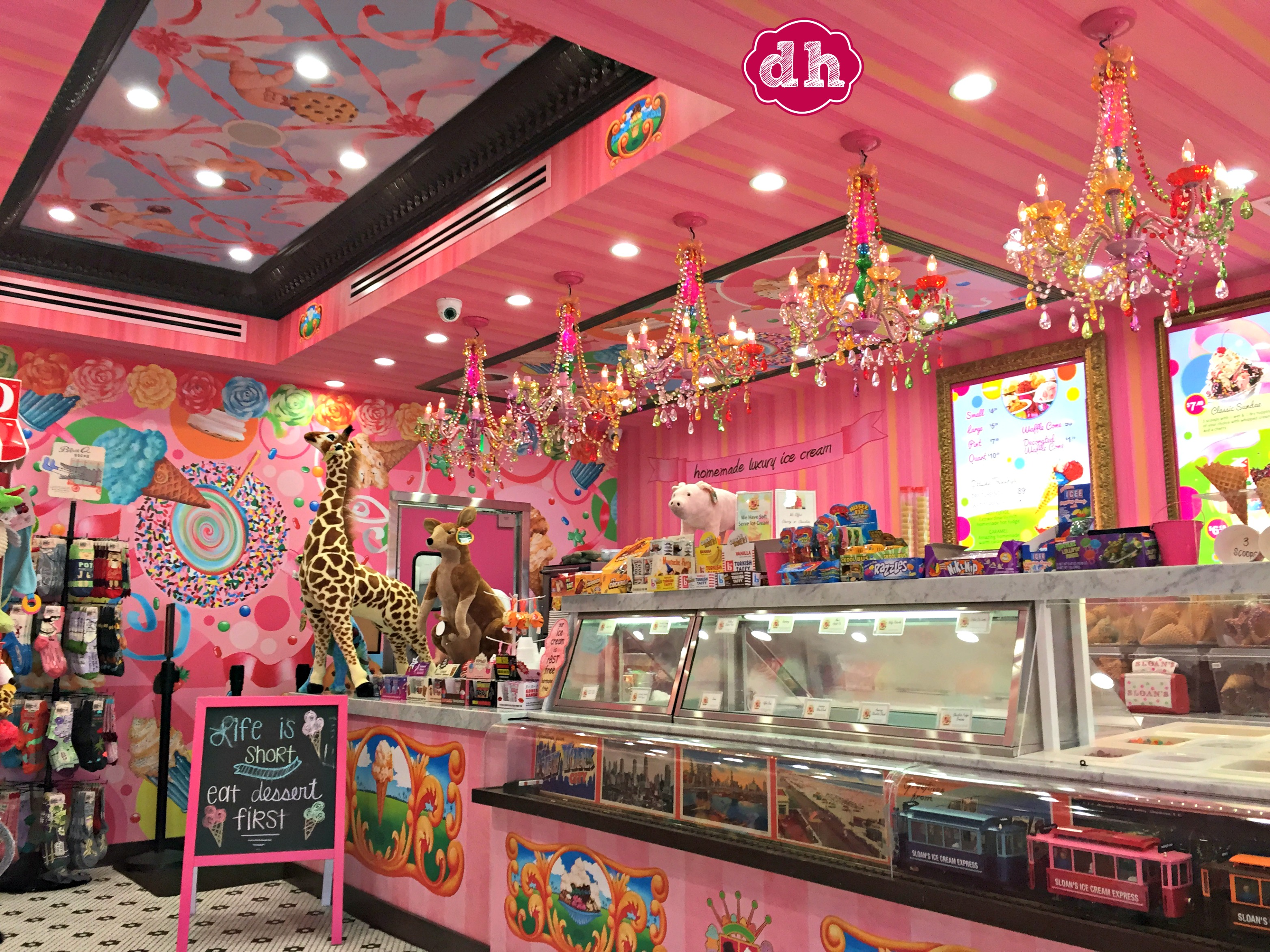 Life is Short, Eat Dessert First ... at Sloan's Ice Cream Shop