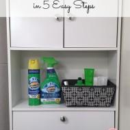 De-clutter Your Bathroom in 5 Easy Steps