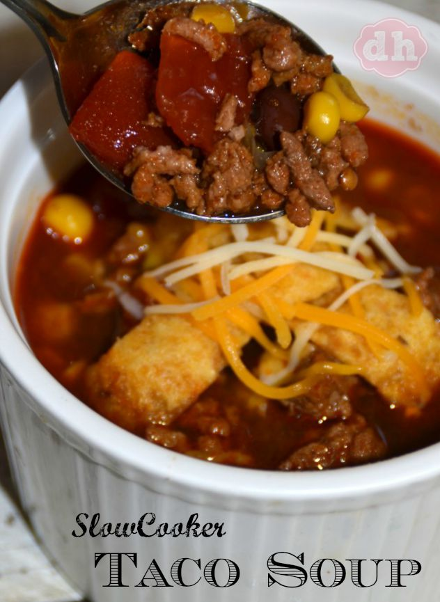 Slow Cooker Taco Soup - donnahup.com