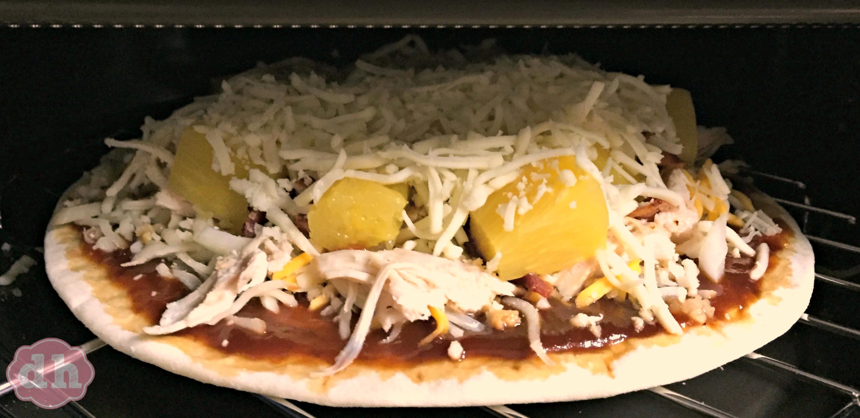 Hawaiian BBQ Chicken Pizza in my KitchenAid Digital Convection Countertop Oven