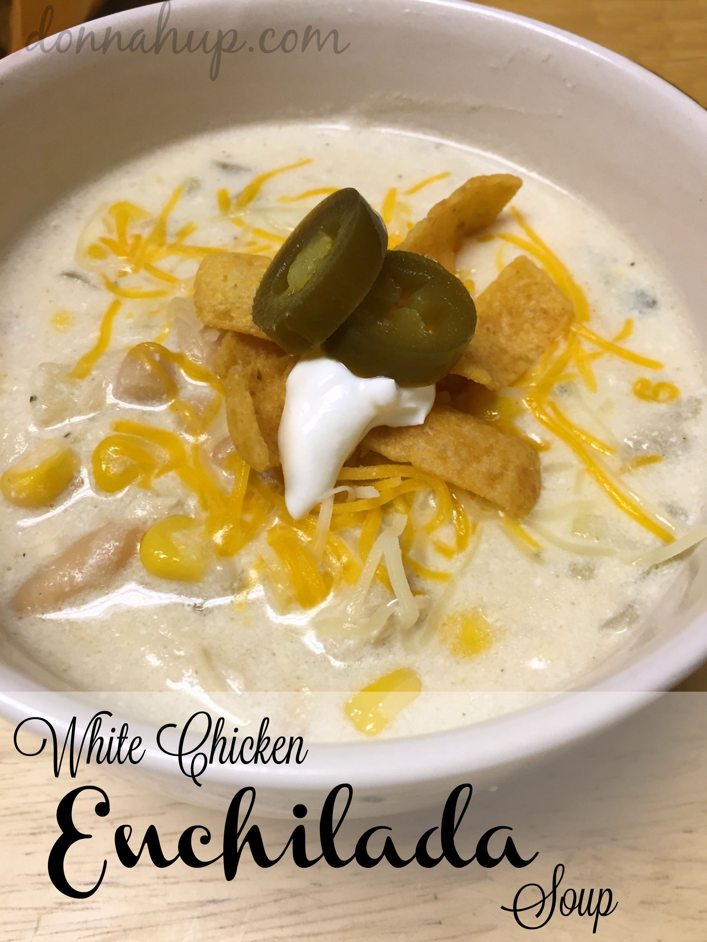 White Chicken Enchilada Soup