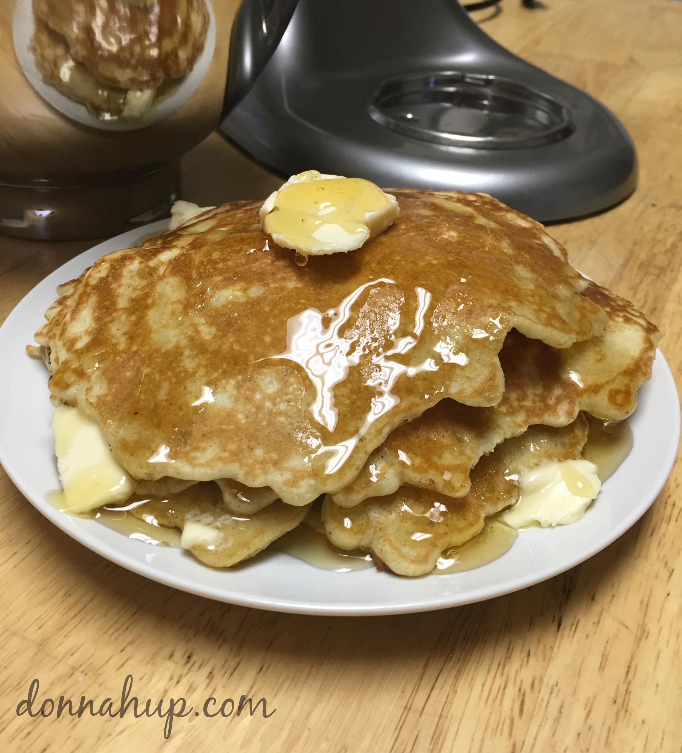 Gluten Free Honey Apple Cinnamon Pancakes with my KitchenAid Mixer