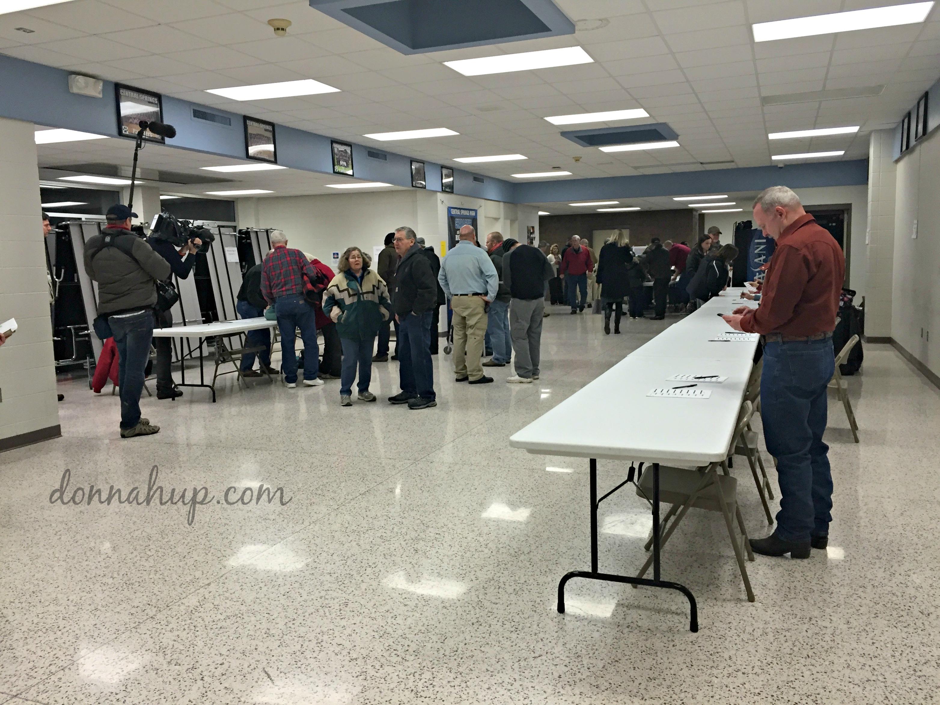 Checking in at my first Iowa Caucus My First Iowa Caucus
