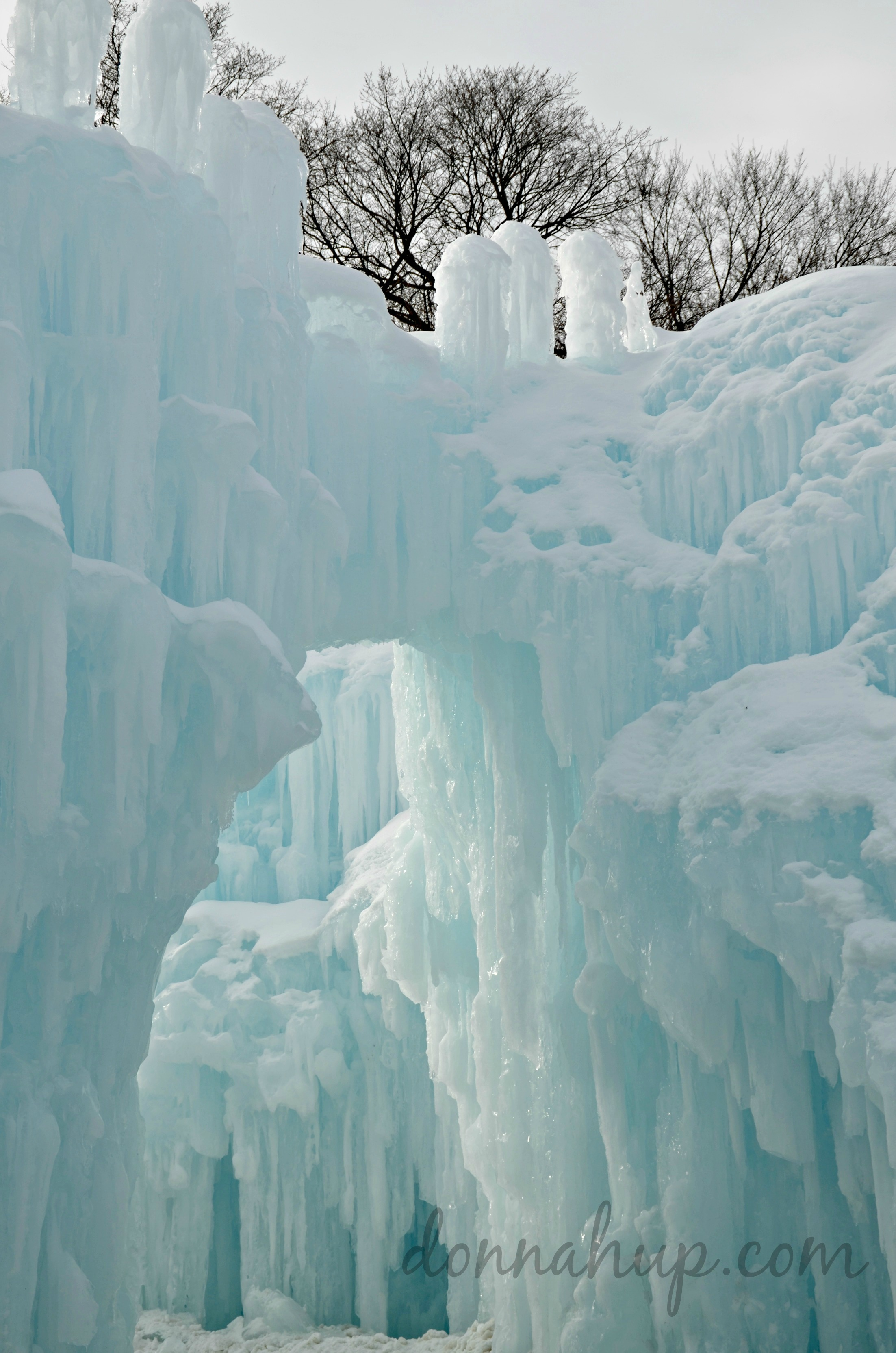 Spending the day at the Ice Castles