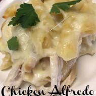 Chicken Alfredo Bake