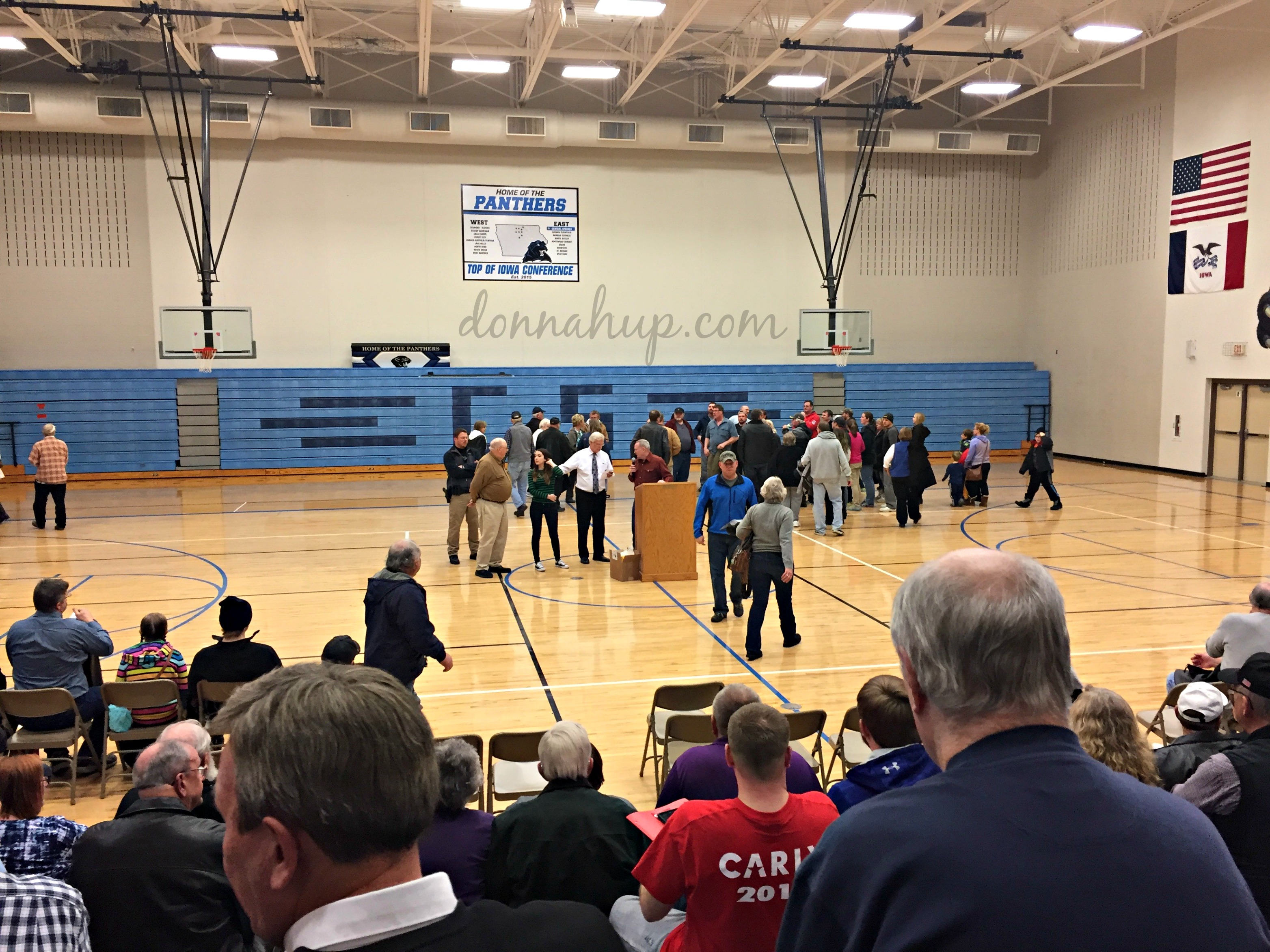 getting ready to vote at my first Iowa Caucus My First Iowa Caucus
