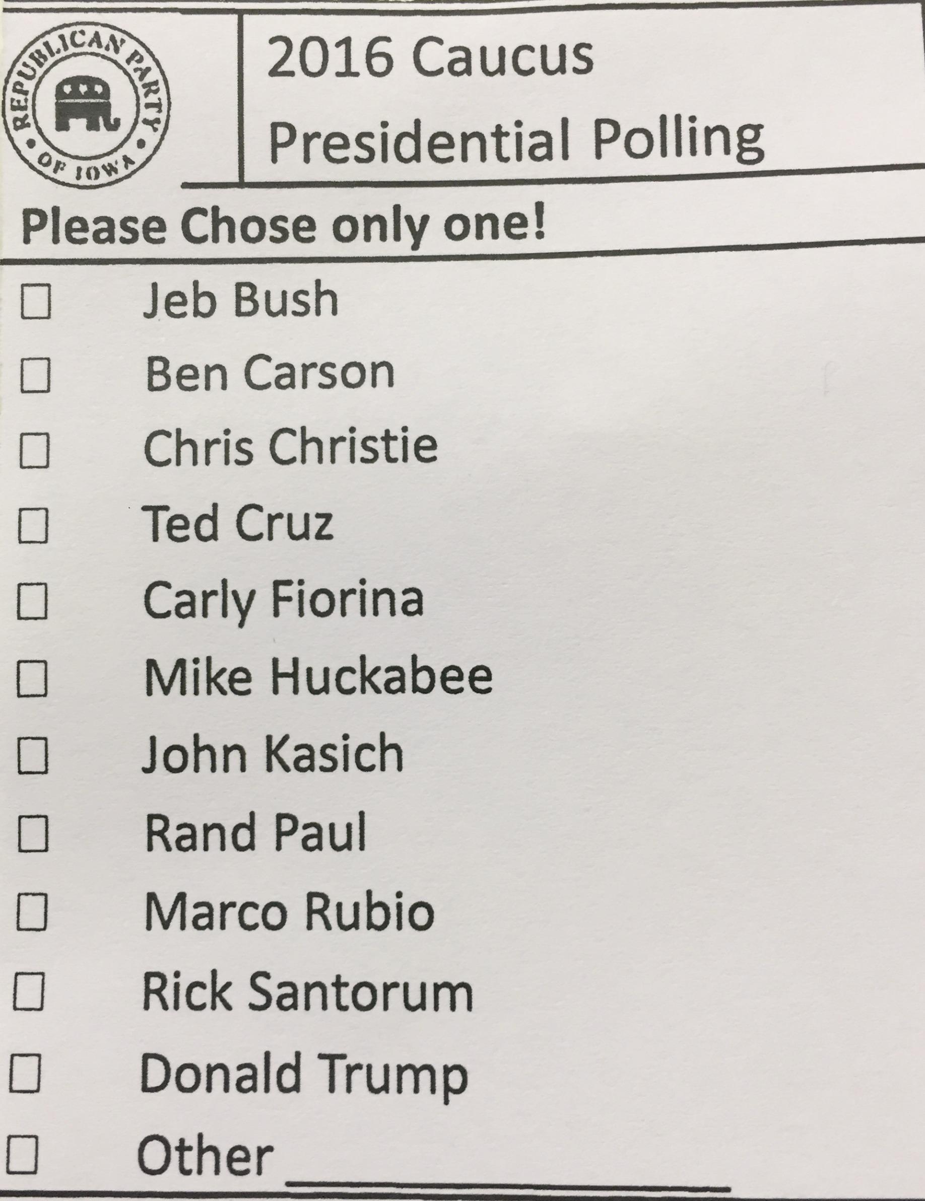 presidential polling my first iowa caucus My First Iowa Caucus