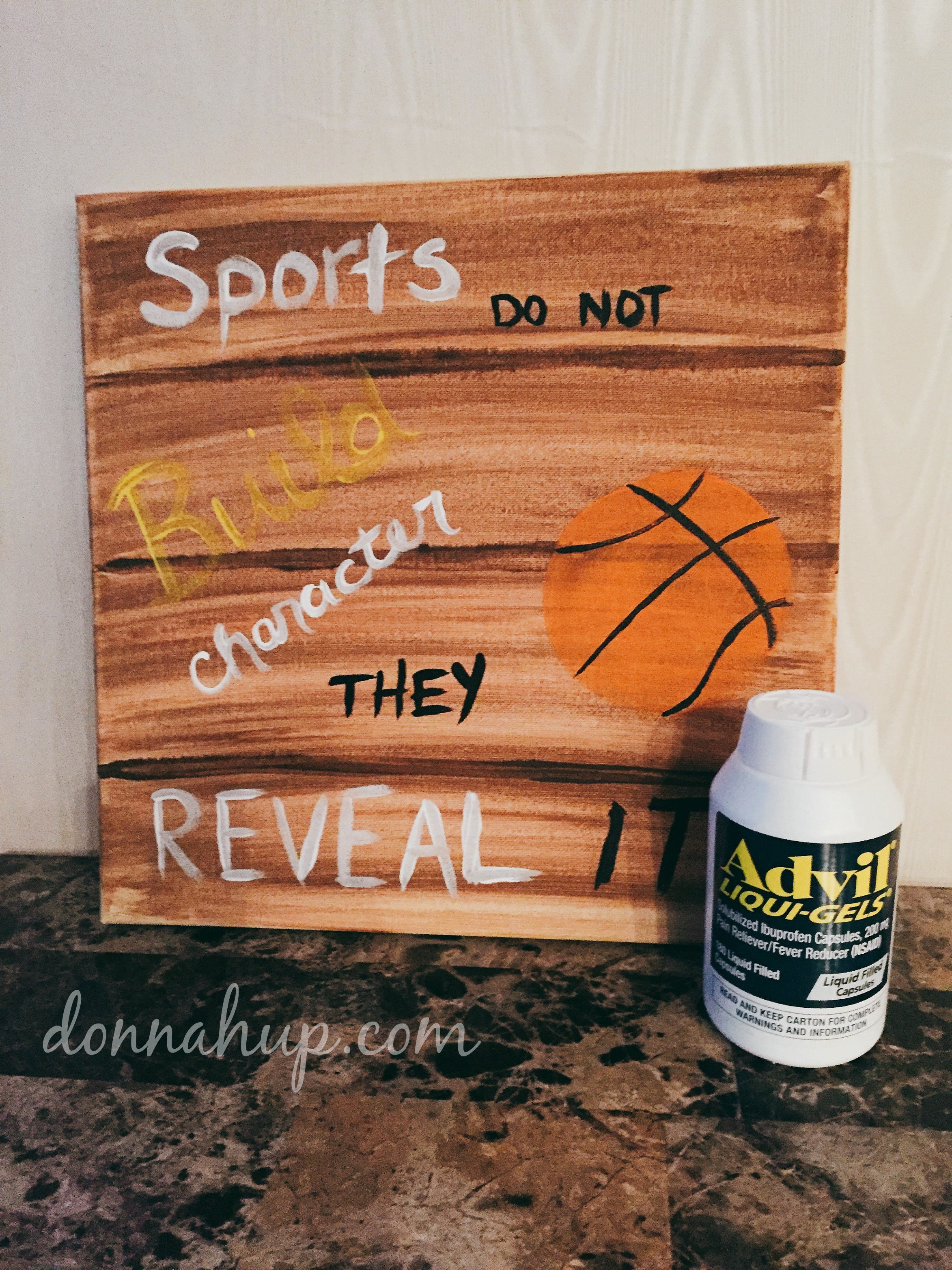 DIY Faux Wood Canvas Print #GameForBasketball #CollectiveBias #ad