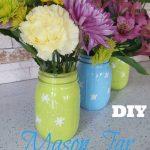 DIY Mason Jar Spring Vases