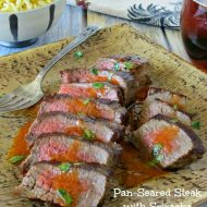 Pan Seared Steak with Sriracha Cilantro Butter