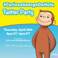 #CuriousGeorgeonHulu Twitter Party