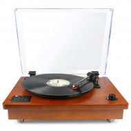 Belt Driven Bluetooth Turntable with Built-in Stereo Speaker