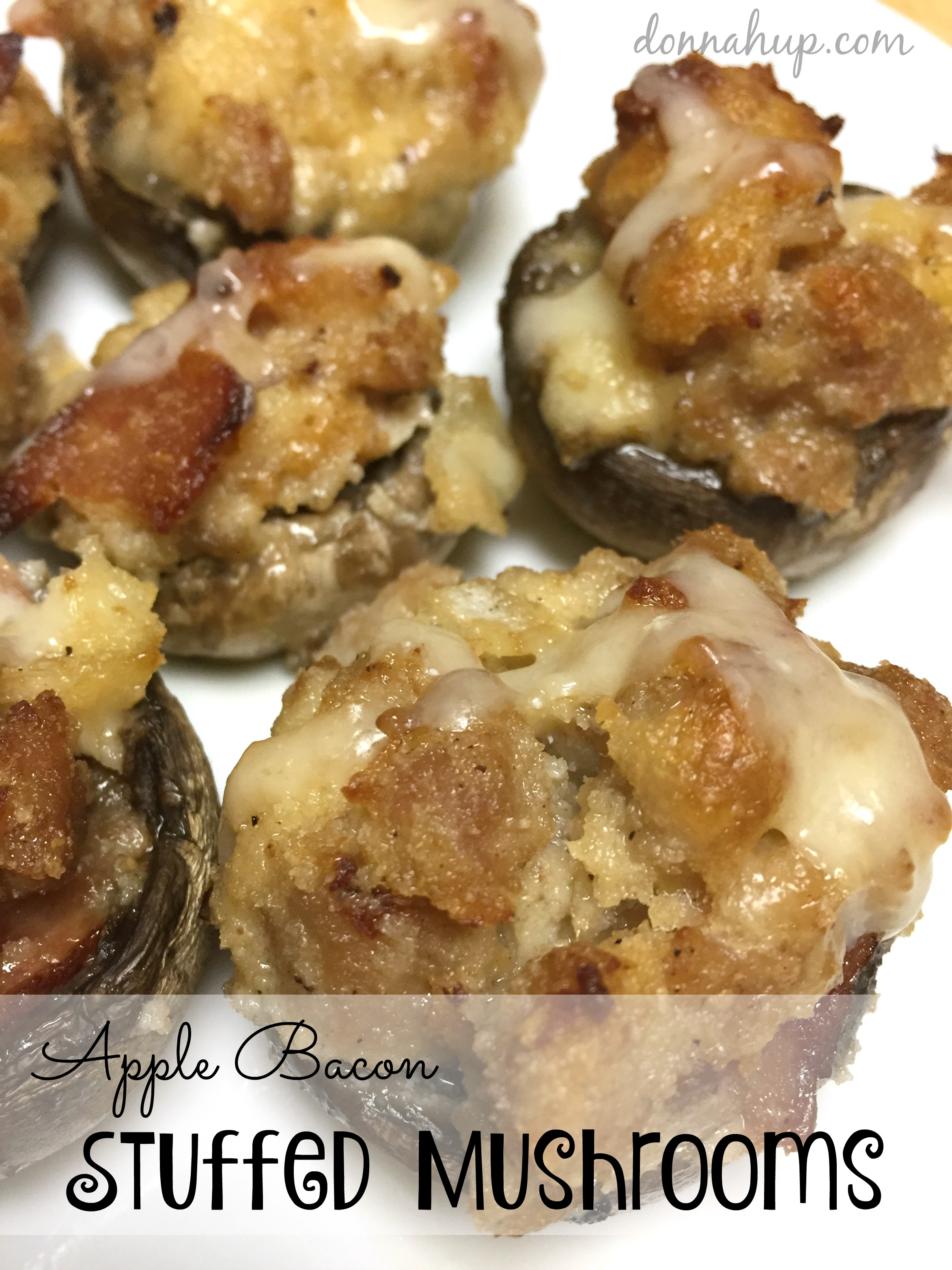 Appetizer Recipes Stuffed Mushrooms with Apple and Bacon