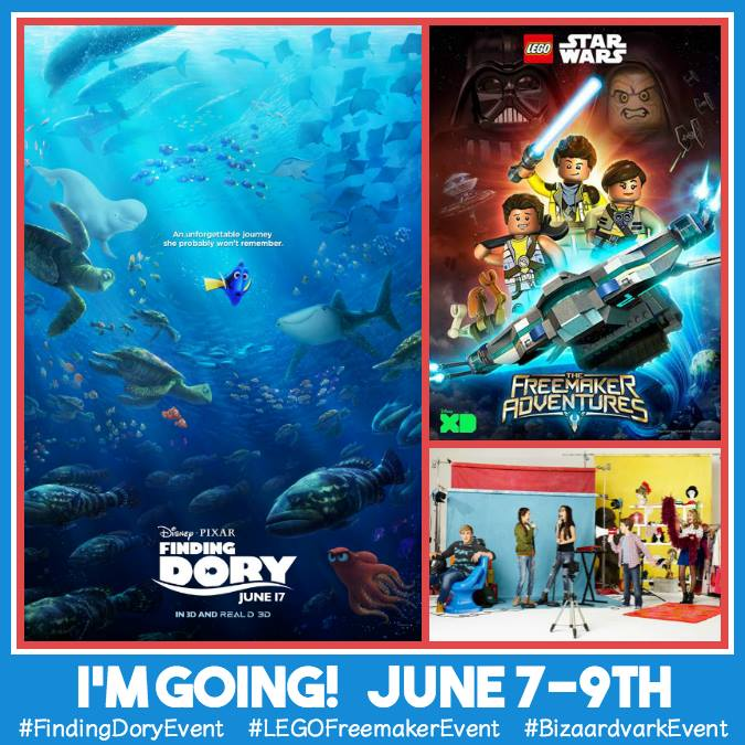I'm headed to the Finding Dory Red Carpet Premier #FindingDoryEvent #BizaardvarkEvent #LEGOFreemakerEvent