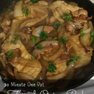 30 Minute French Onion Pork One Pot Meals