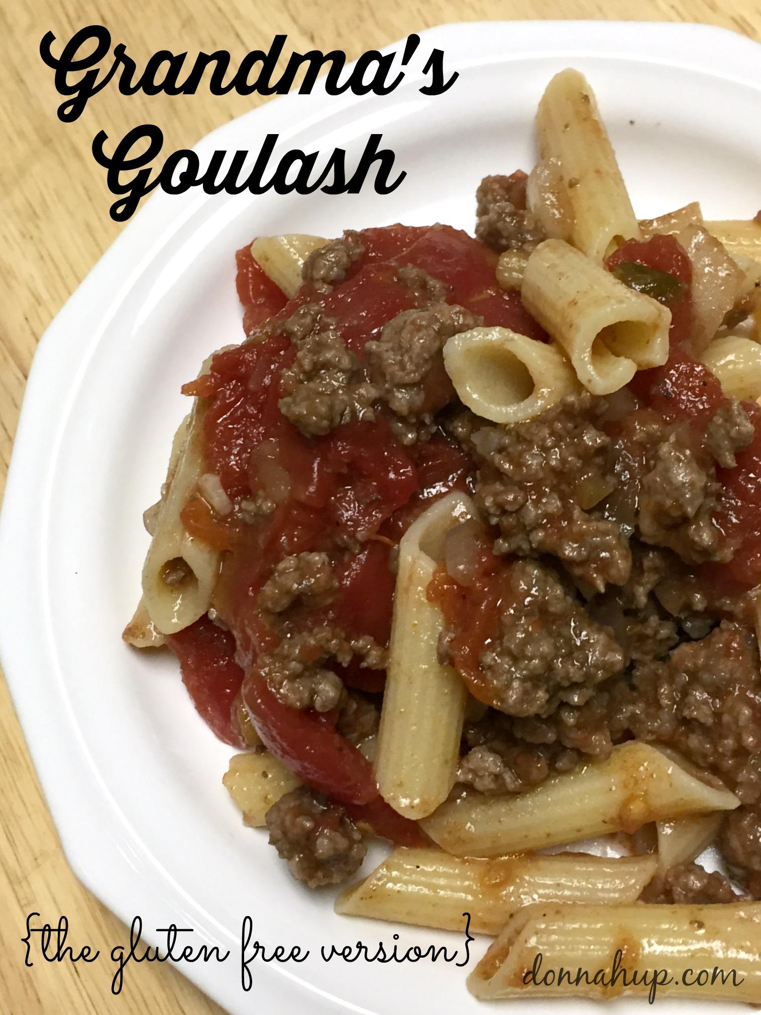 Grandma's Easy Goulash Recipe {the gluten free version} #glutenfree #recipe