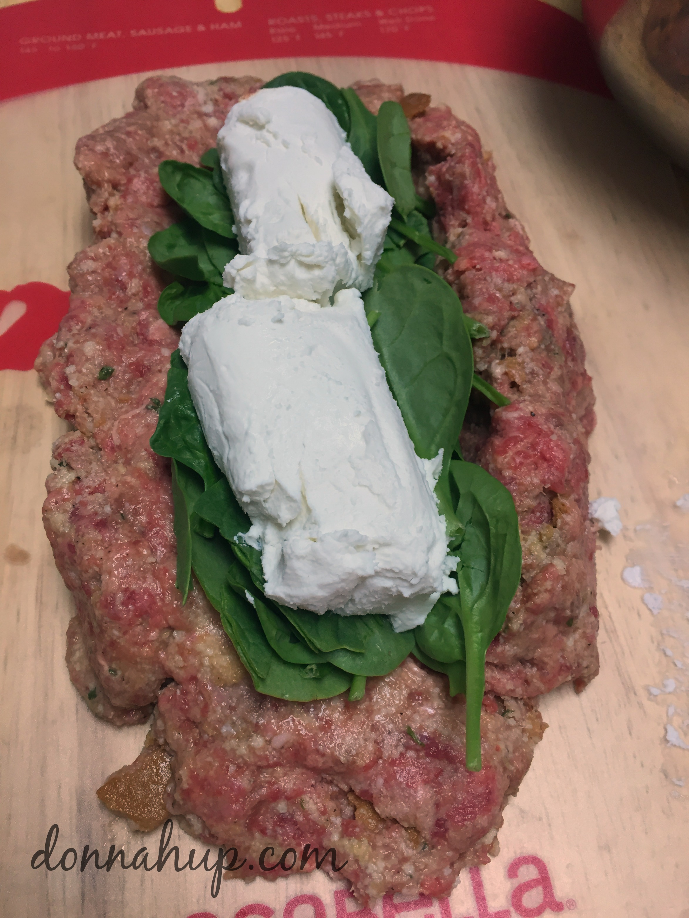 Goat Cheese andSpinach Stuffed Meatloaf Recipe #recipe