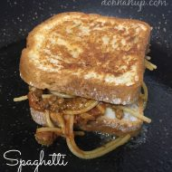 Spaghetti Grilled Cheese