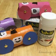 Toilet Paper Roll Crafts – DIY Race Cars