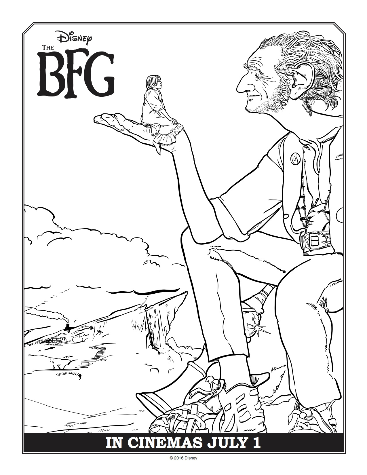 disney u0027s the bfg coloring pages donnahup com