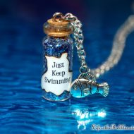 Win a Just Keep Swimming Magical Bottle & Fish Charm Necklace